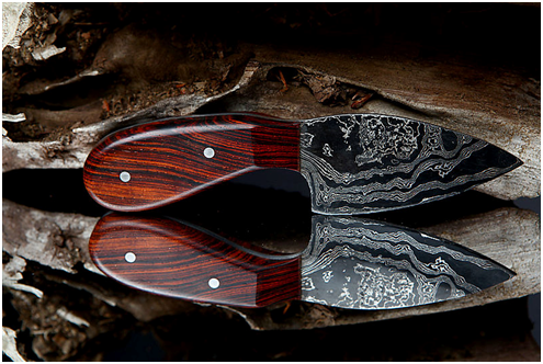 Damascus Steel knife by Holger Muller