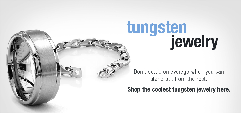 Mens Modern Tungsten Jewelry
