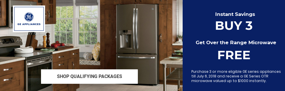 GE Appliance Packages with free microwave