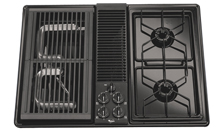 pic of gas downdraft cooktop