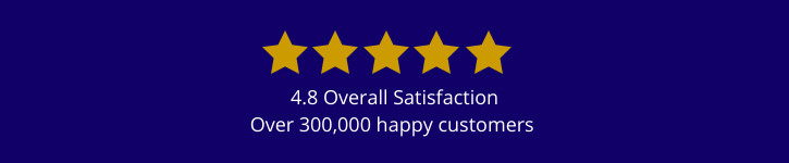 over 300,000 happy customers