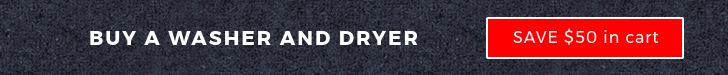 Buy any washer and dryer pair, and save $50
