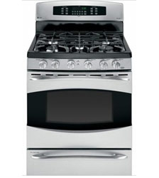 pic of dual fuel gas range