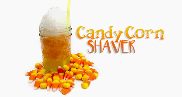 Candy Corn Shaved Ice