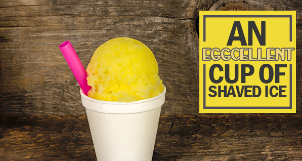 Egg Custard Shaved Ice