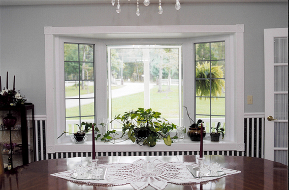 Dreamwood Bay Window Featuring Cat Vents And Prairie Style Jewel Cut Panels Options