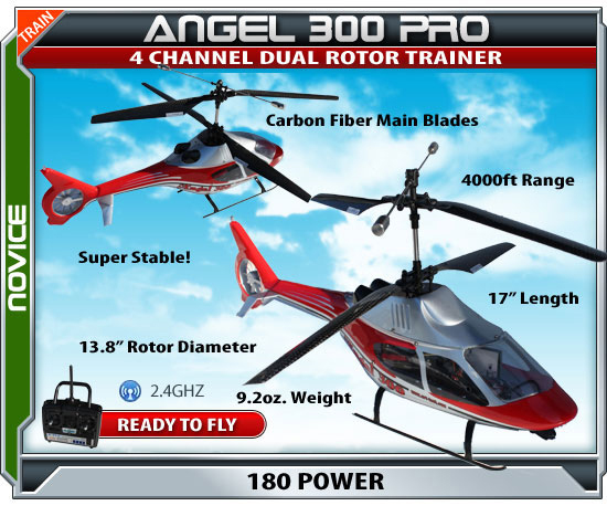 Angel 300 Pro Radio Controlled Electric Helicopter rcheli