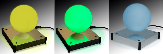 Levitating mood ball in 3 colors
