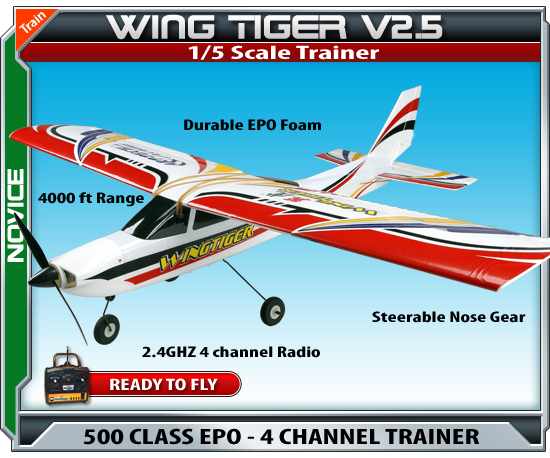 Wing tiger v2.5 remote controlled plane