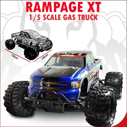 gas remote control trucks redcat rampage xt views