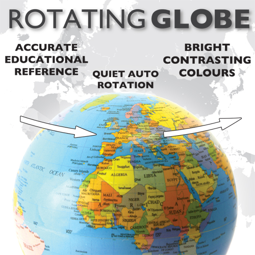 Rotating Floating Globe
