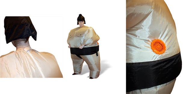 blow up giant inflatable sumo wrestler costume