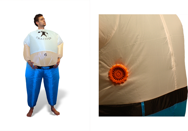 Inflateable Personal Trainer Costume