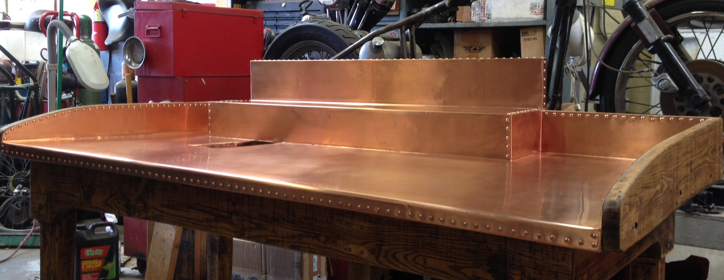 Antique Apple Sorting Table With A Copper Top
