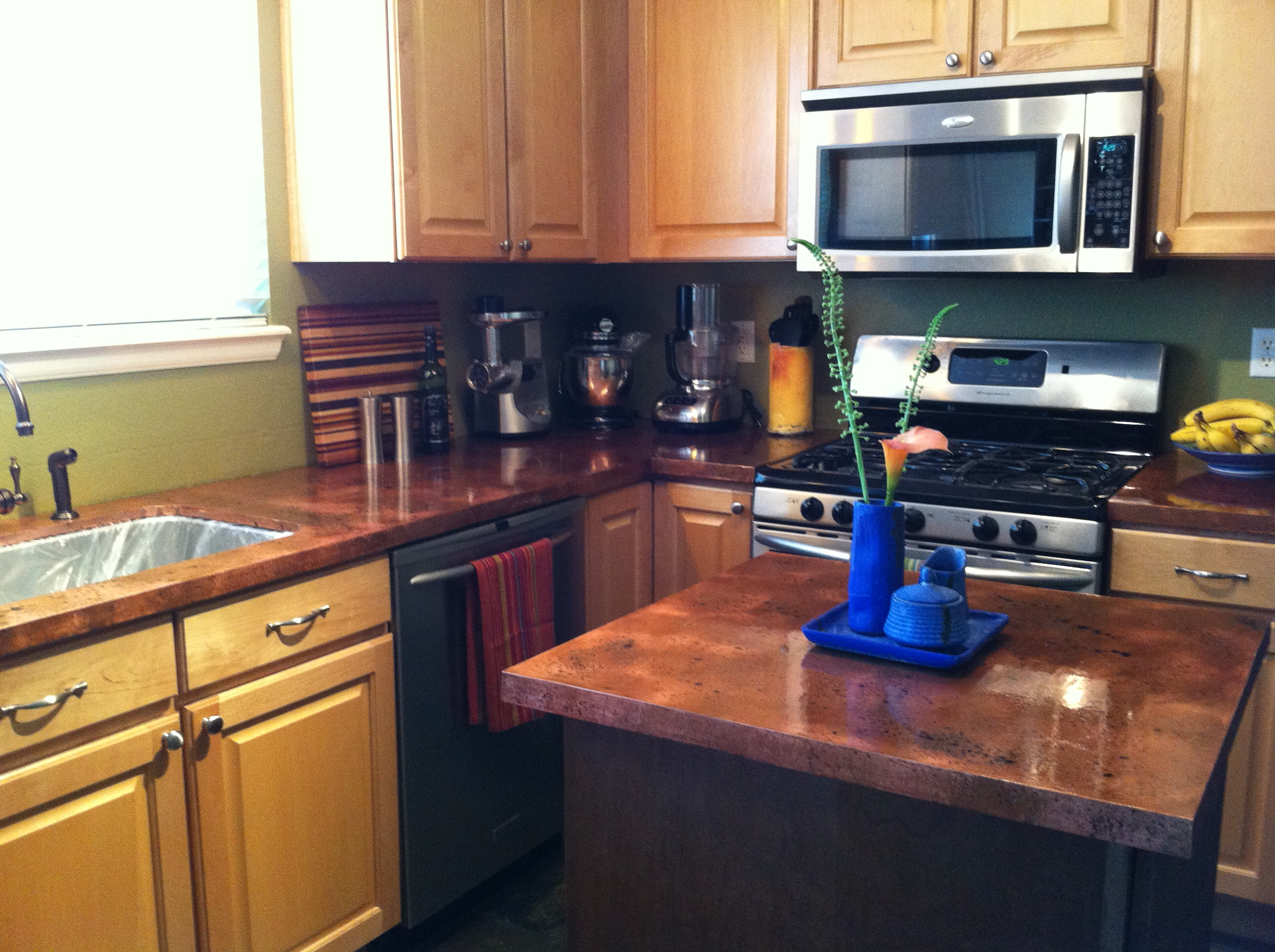 home countertop copper crafted single kitchen well soluna tubs standard artisan sink sinks