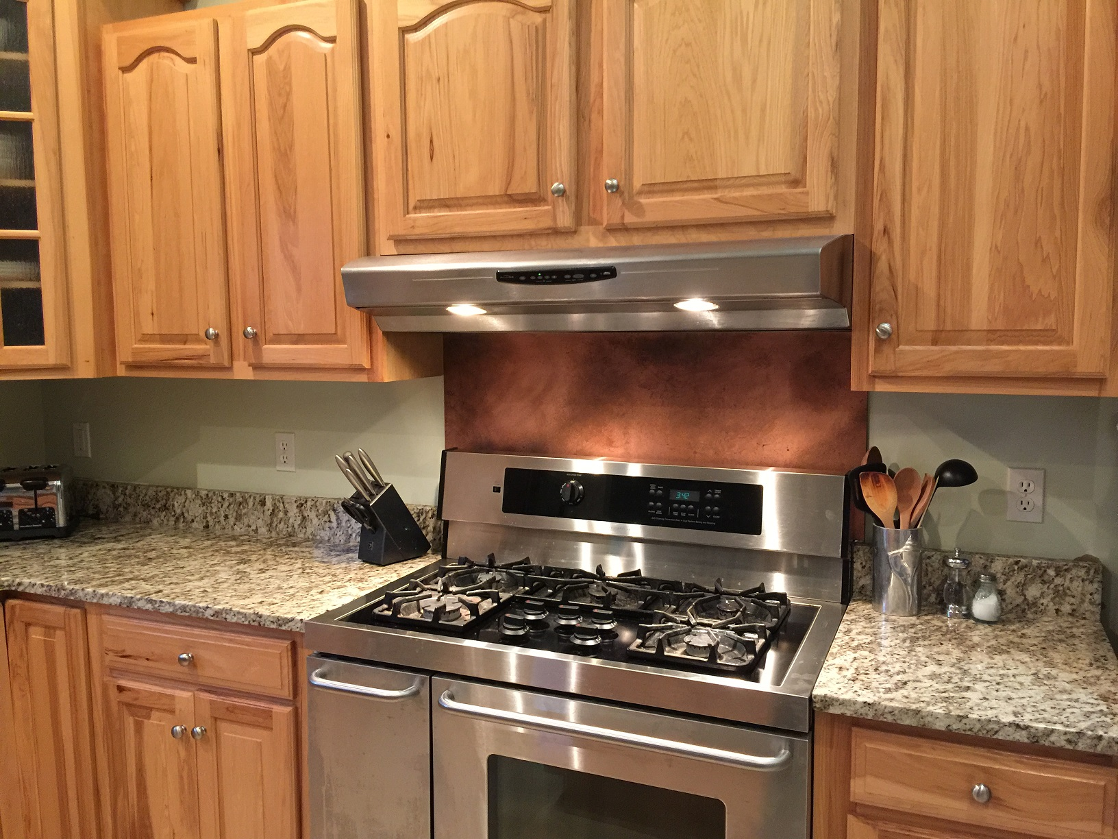 - Copper Backsplash-Rustic Brown