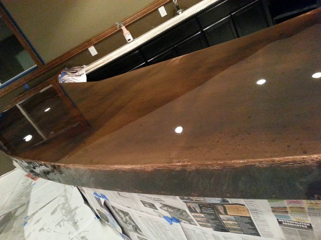 copper bar top