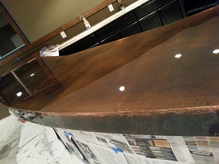An Antique Apple Sorting Table With A Copper Top Using 22 Mil Copper:  Http://basiccopper.com/copper Table Antique Apple Sorting.html