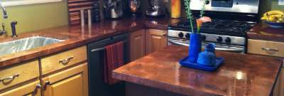 How to make a copper bartop, countertop, and table top