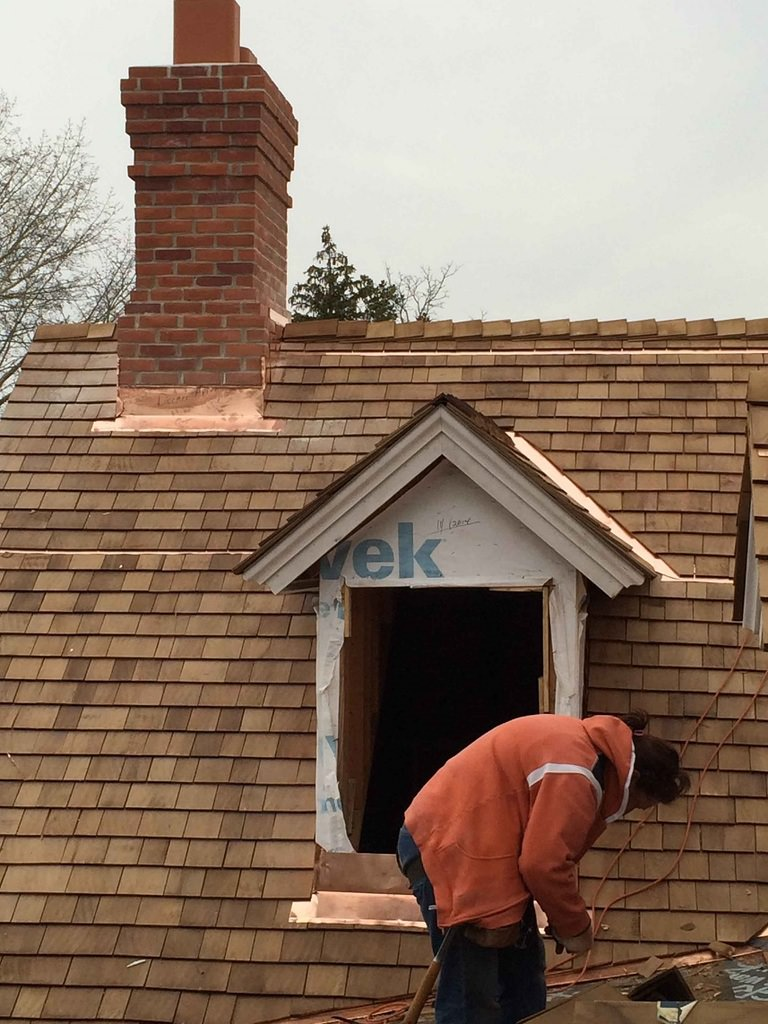 Copper Roof Flashing In Historic Home Renovation