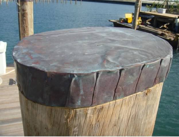 copper piling cap