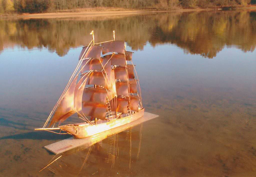 copper sailboat