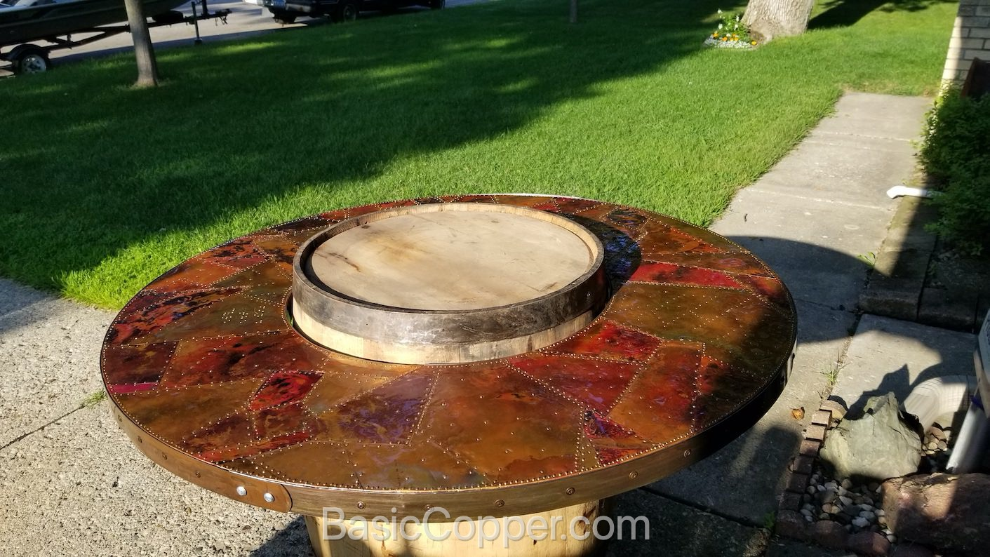 Flamed Copper Table Top 1