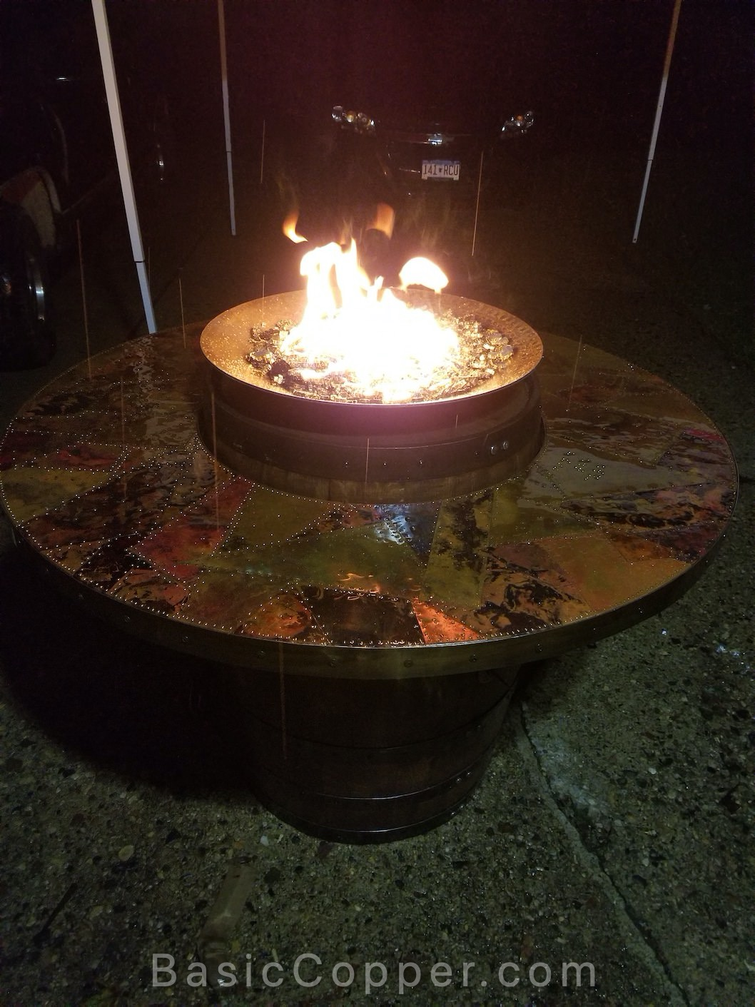 Flamed Copper Table Top 2