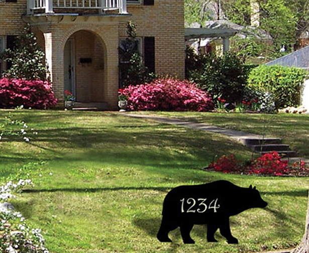 Custom Lawn Stake, Sign, Bear.