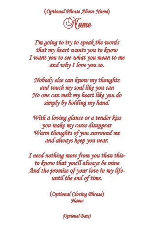 Love Poems For Him For Her For The One You Love For Your Boyfriend For A