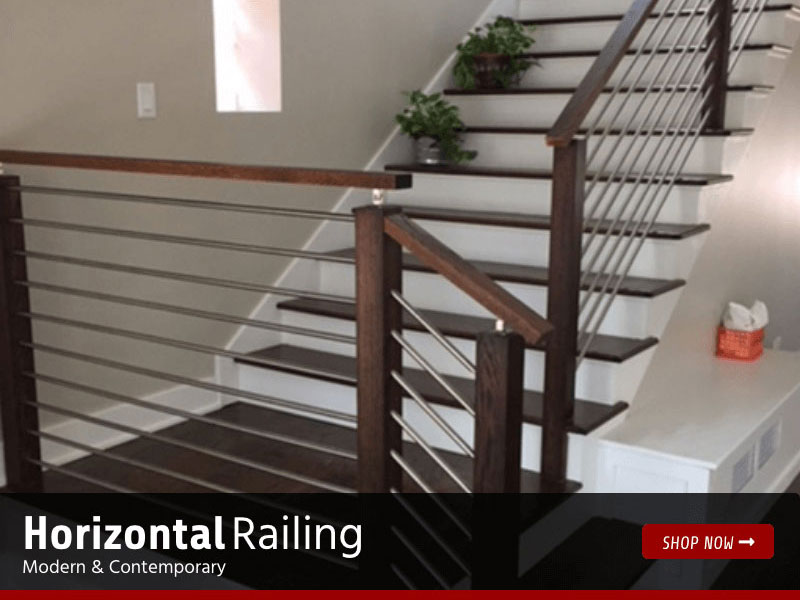 Horizontal Railing - Modern and Contemporary
