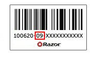 Razor Scooter Parts Bar Code
