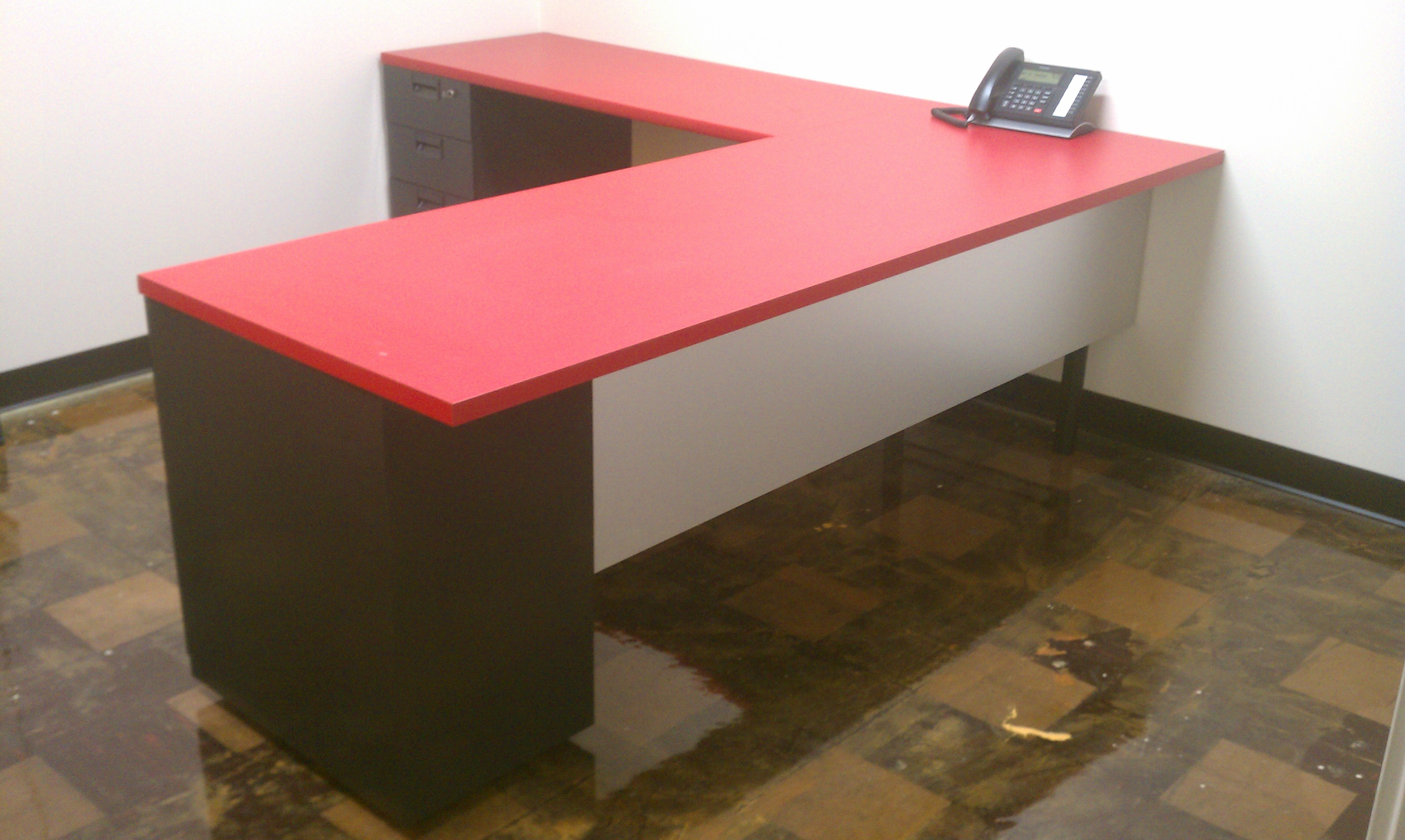Custom Reception Desk with Return