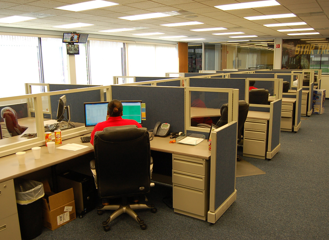 Custom Herman Miller AO2 Cubicles With Glass Panels