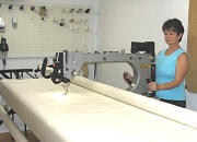 Julie McLean at her long arm quilter