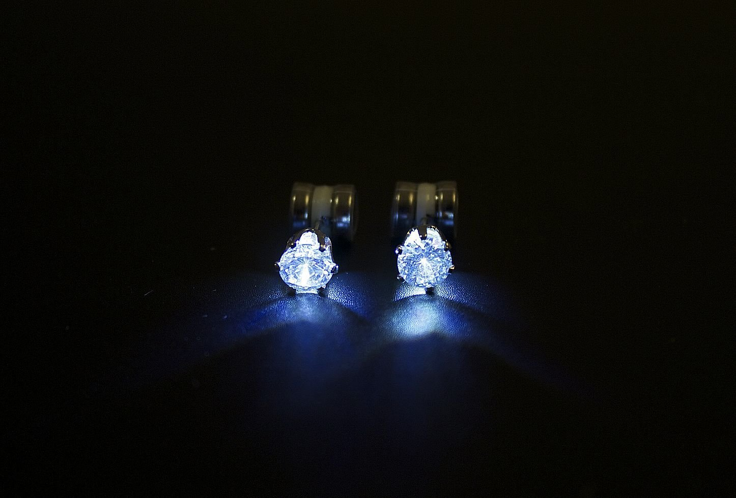Night Ice Led Crystal Earrings