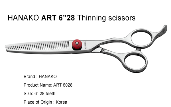 HANAKO ART 6inch 28teeth thinning shears