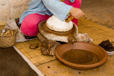 argan oil grinding