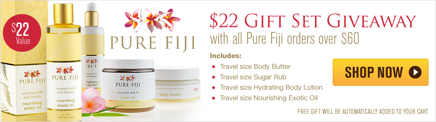 Free Gift Set with all Pure Fiji orders over $60