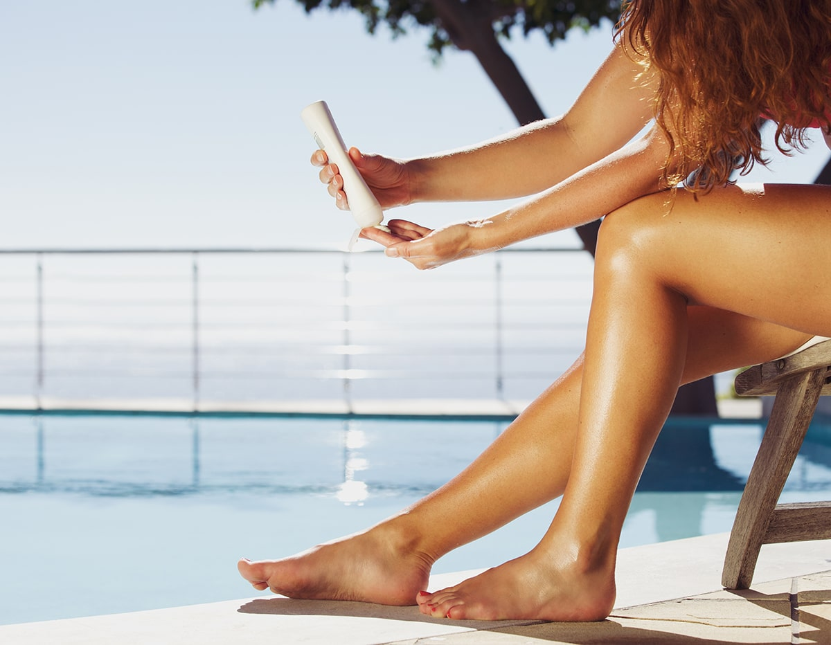Don't worry about your cellulite when relaxing at the pool.