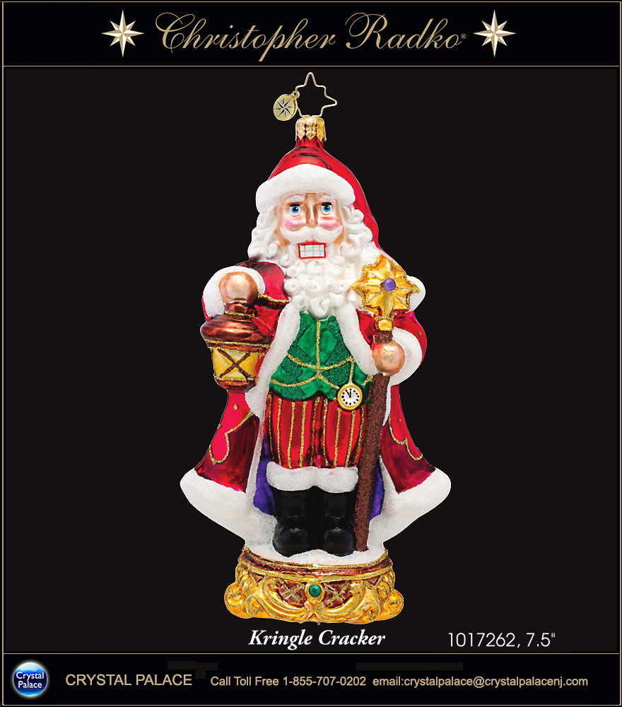 Christopher Radko Kringle Cracker Christmas Ornament