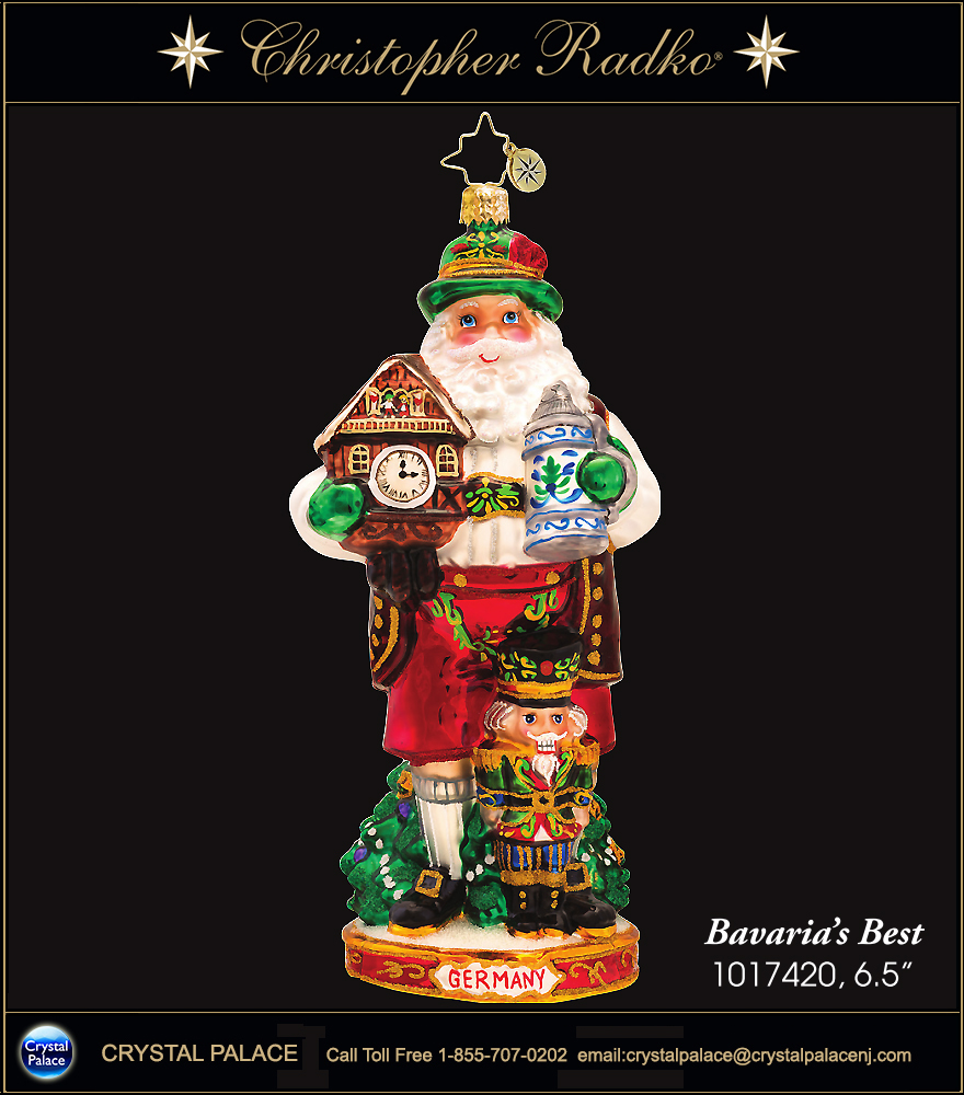 Christopher Radko Bavaria's Best Christmas Ornament