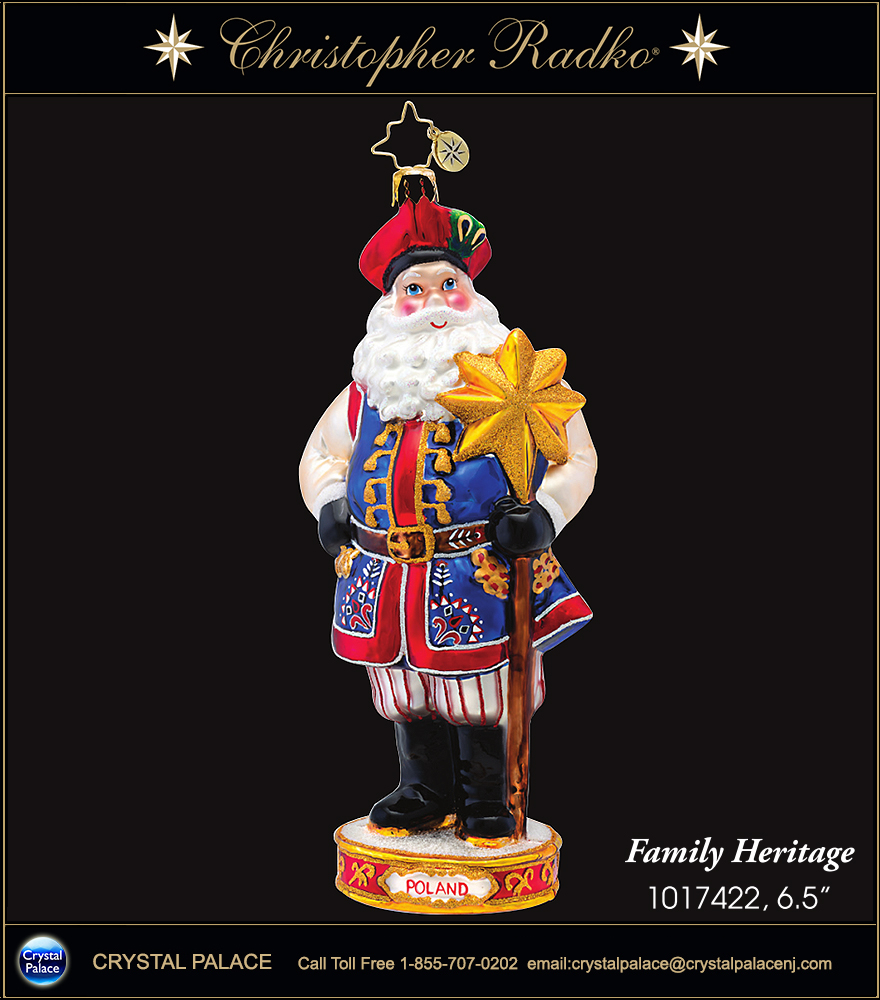 Christopher Radko Family Heritage POLAND Christmas Ornament