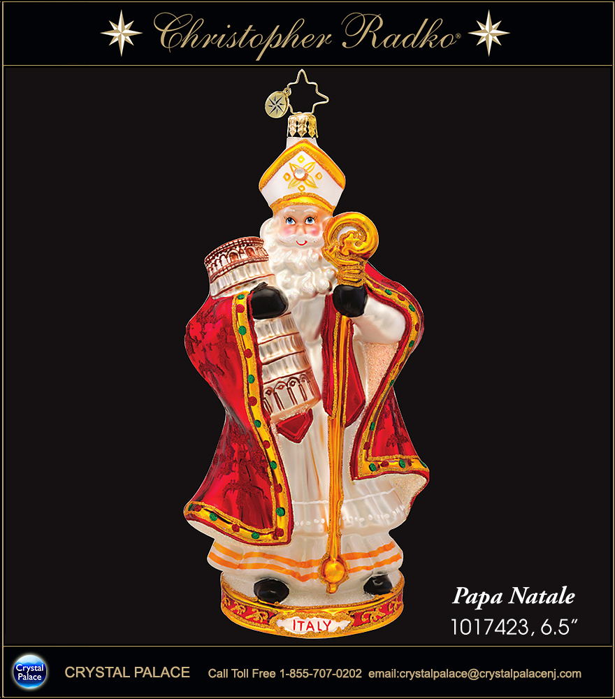 Christopher Radko Papa Natale ITALY Christmas Ornament
