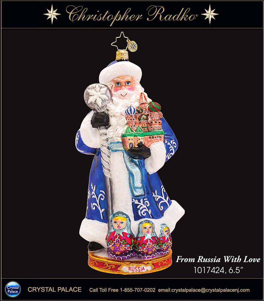 Christopher Radko From Russia With Love Christmas Ornament