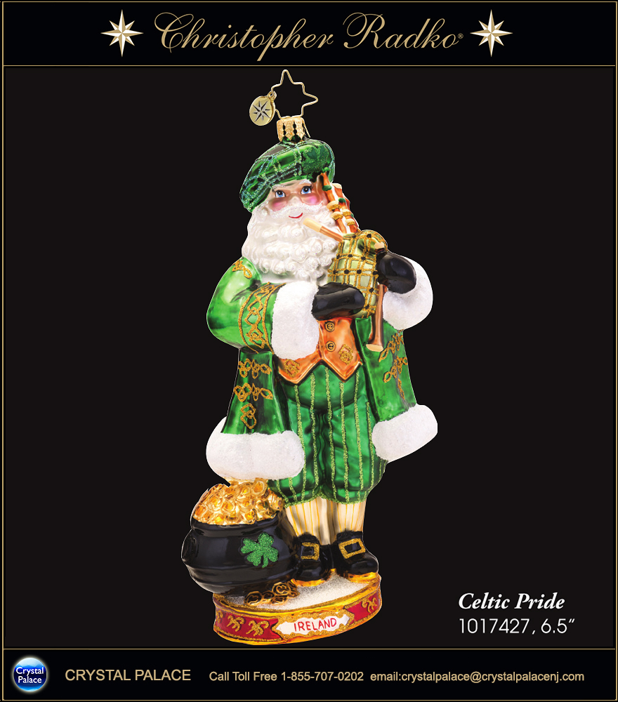 Christopher Radko Celtic Pride IRELAND Christmas Ornament