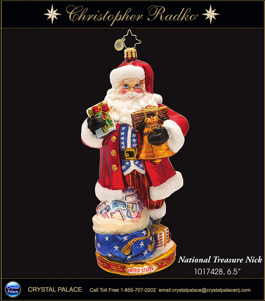 Christopher Radko National Treasure Nick UNITED STATES Christmas Ornament