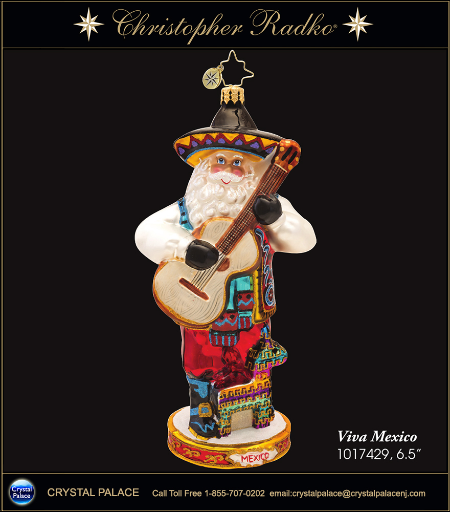 Christopher Radko Viva Mexico Christmas Ornament