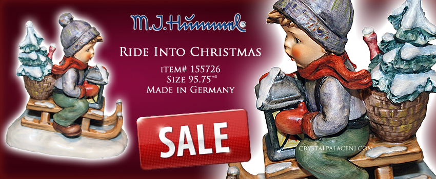 M.I. Hummel Ride Into Christmas Figurine 5.75 inches