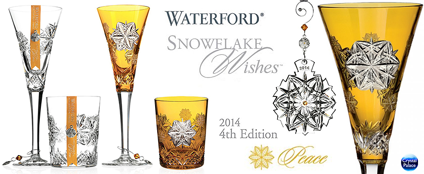 Waterford snowflake wishes Peace 2014